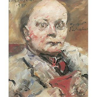 Lovis Corinth - Portrait of man with red Poster Print Giclee