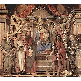 Sandro Botticelli - Christ top of the Steps Poster Print Giclee