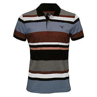 Gant multirighe Rugger Polo in piquet, Evening Blue