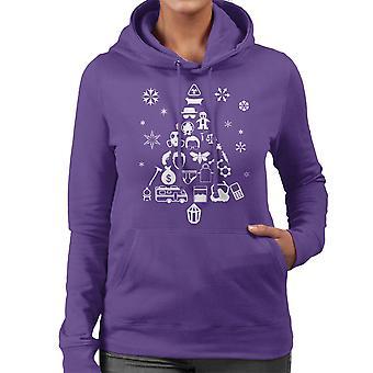 Breaking Bad Christmas Tree Silhouette White Women's Hooded Sweatshirt