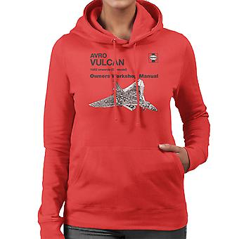 Haynes eigenaren Workshop handmatige Avro Vulcan 1952 B2 Women's Hooded Sweatshirt