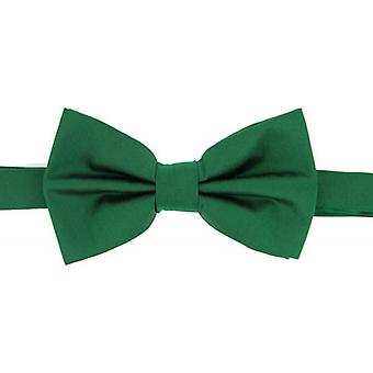 David Van Hagen Plain Satin Silk Bow Tie - Emerald Green