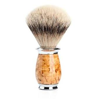 Muhle PURIST Silvertip Badger Hair Shaving Brush with Birch Handle