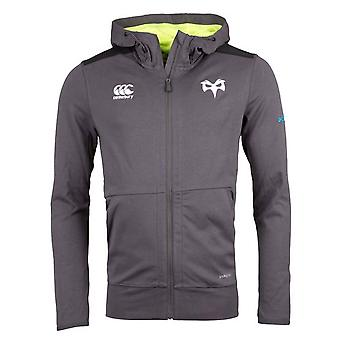 2017-2018 Ospreys Rugby Full Zip Hooded Sweat (Nine Iron)