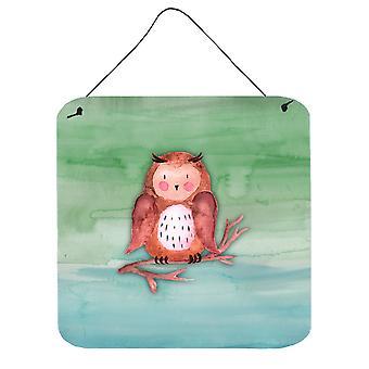Carolines Treasures  BB7443DS66 Brown Owl Watercolor Wall or Door Hanging Prints