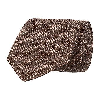 Baldessarini classic tie Brown silk 91029/000/19995/431 dark brown 7 cm