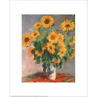 Impresión del cartel de Girasoles de Claude Monet (16 x 20)