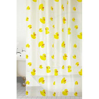 Yellow Ducks Peva Shower Curtain 180 X 180CM