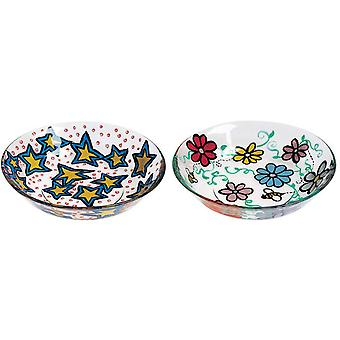 Two Glass Bowls 4 U 2 Paint Kit 1337
