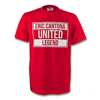 Eric Cantona Man Utd Legend Tee (red)
