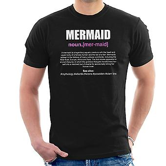 Mermaid Dictionary Definition Men's T-Shirt
