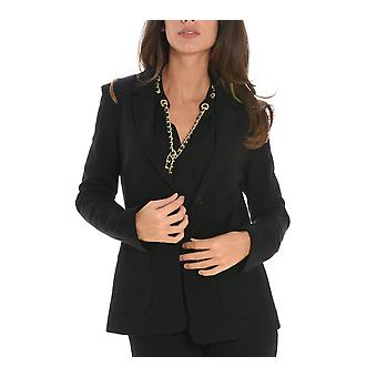 Jucca ladies J2613004003 black viscose Blazer