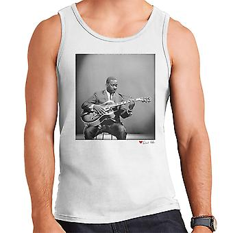Wes Montgomery Playing Guitar 1964 White Men's Vest