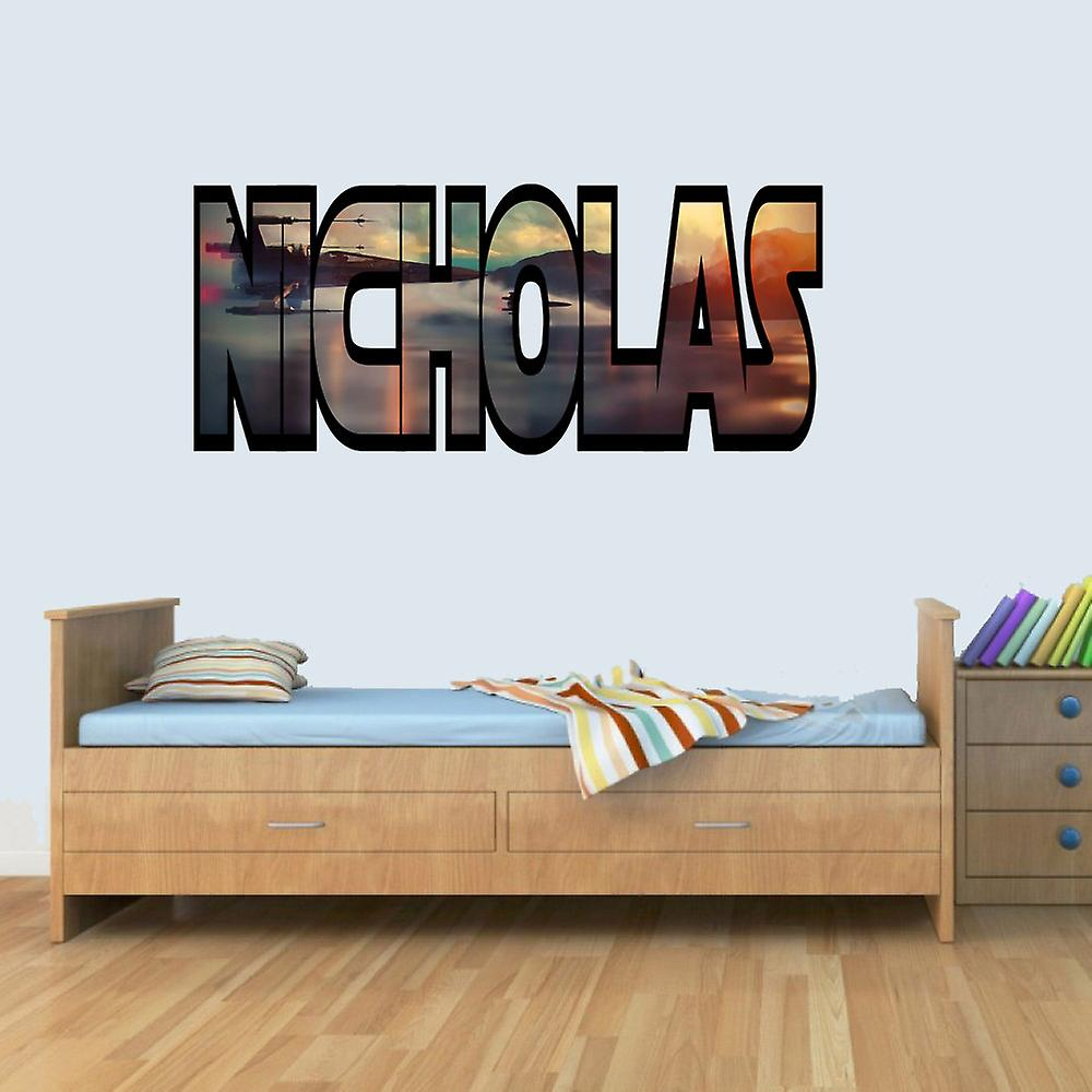 GNG Customisable Star Wars X Wing Childrens Name Wall Art Stickers Decal Vinyl for Boys/Girls Bedroom
