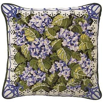 Blaue Hortensie Needlepoint Canvas