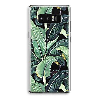 Samsung Galaxy Note 8 Transparant Case - Banana leaves