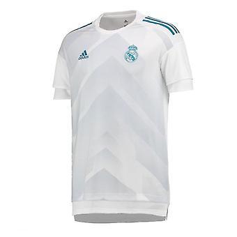 2017-2018 Real Madrid Adidas Pre-Match Training Shirt (White)