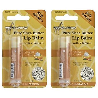 Out of Africa Shea Butter Lip Balm Orange Cream 2 Tube Pack