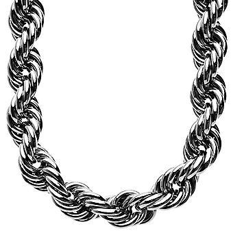 Heavy rope DMC style hip hop necklace - 16 mm hematite