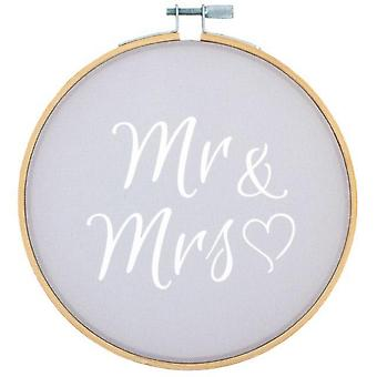 Something Different Mr & Mrs Decorative Hoop
