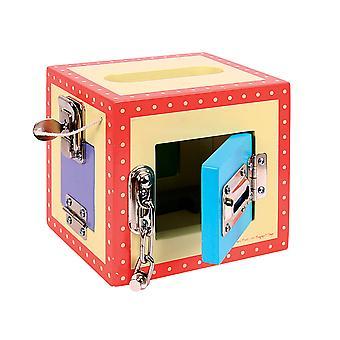 Bigjigs leker tre bære lås boksen pjokk aktivitet sentrum spille leketøyet