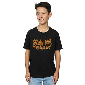 Scooby Doo Boys Where Are You Spooky T-Shirt