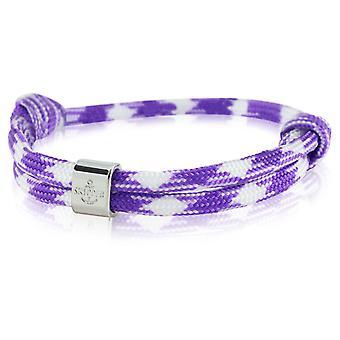Skipper bracelet surfer band node maritimes bracelet purple / white 6796