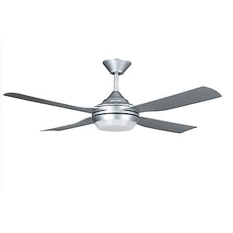 Ceiling fan Moonah Silver with LED light and remote control 132cm / 52