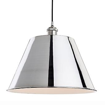 Firstlight Savoy Retro Industrial Style Pendant In Brushed Chrome