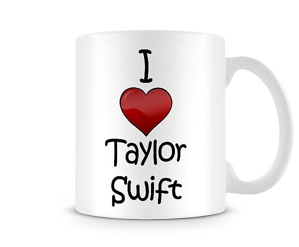 I Love Taylor Swift Printed Mug