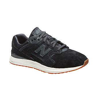 New balance 574 sneaker real leather men black