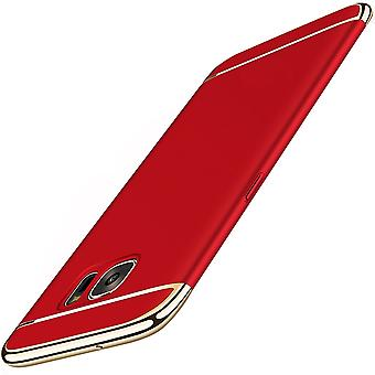 Cell phone cover case for Samsung Galaxy A5 2016 bumper 3 in 1 cover chrome Red