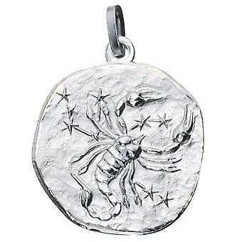 Rimorchio segno zodiacale Scorpione d'argento sterling silver