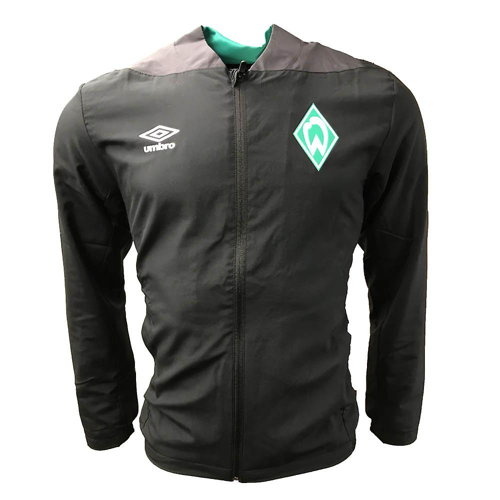 2018-2019 Werder BreHommes Umbro Woven veste (noir)