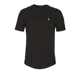 883 Police Geri Zipped T-Shirt | Black