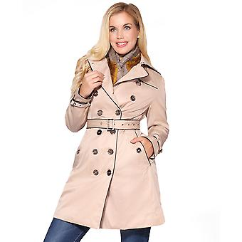 KRISP  Ladies Tailored Stylish Double Breasted Trench Coat Women Mac Jacket Office Work