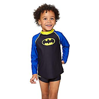 Zoggs Kids Batman Long Sleeve Sun Top, Black/Blue