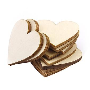 TRIXES Pack 100 Valentines rustikke træ Chip hjerter til dekoration og kunsthåndværk