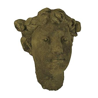 Designer Stone Driftwood Grey Classic Lady Head Concrete Wall Mounted Planter