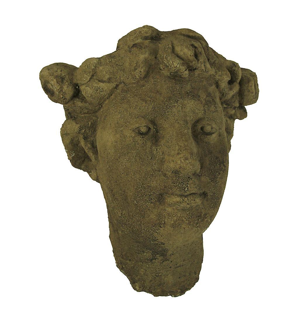 Designer Stone Driftbois gris Classic Lady Head Concrete Wall Mounted Planter