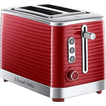Russell Hobbs 24372 Inspire High Gloss 2 Slice Toaster - Red