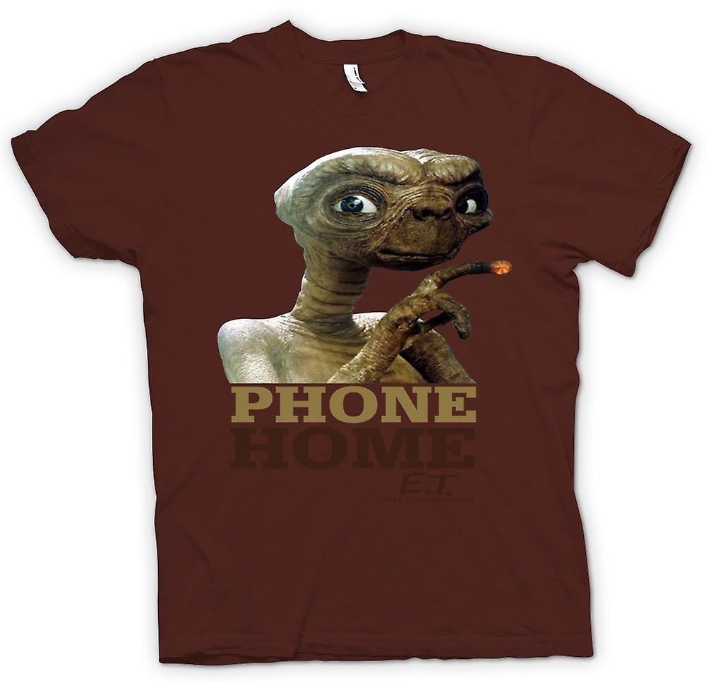Mens T-shirt-ET Telefon zuhause - Cute - Alien