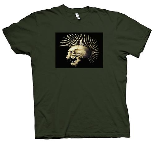 Mens t-shirt-Punk Skull con spine