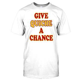 Geven Quiche A Chance - grappige Wordplay Kids T Shirt