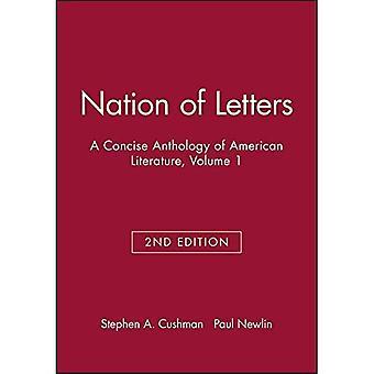 Nation des lettres: A Concise anthologie de la littérature américaine