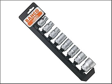 Bahco S8SR Socket Set of 8 Metric + Rail S80/8 1/2in Drive