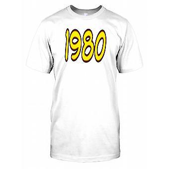 1980 - Geburtstag-Jahr-Herren-T-Shirt