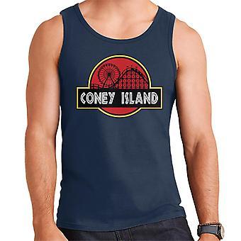 Coney Island Jurassic Park Logo Herren Weste