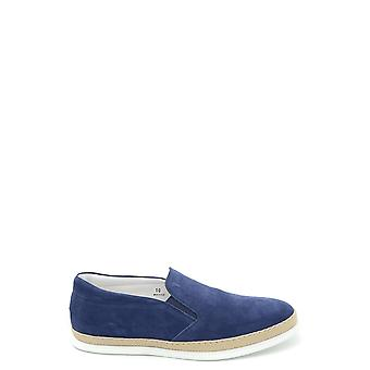 Tod's Blue Suede Slip On Sneakers