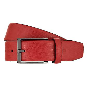 Strellson belts men's belts leather leather belt red 7942